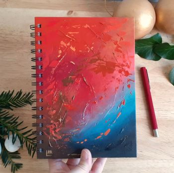 Inferno - Hand Painted Unique Abstract Notebook