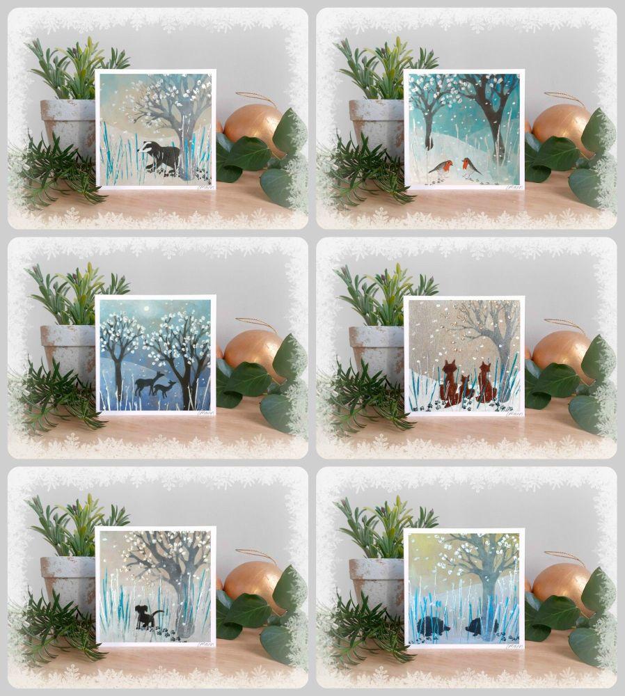 Mini Christmas card set