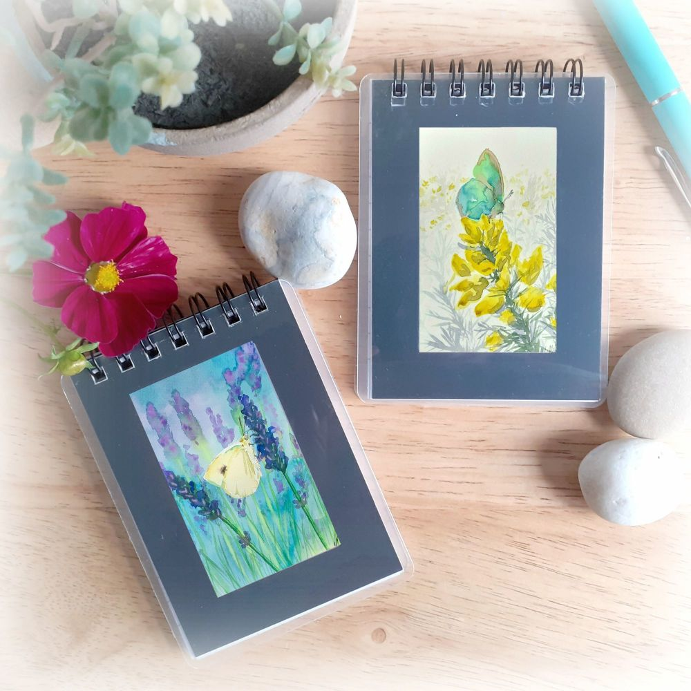 Two Mini Notebooks - Butterflies