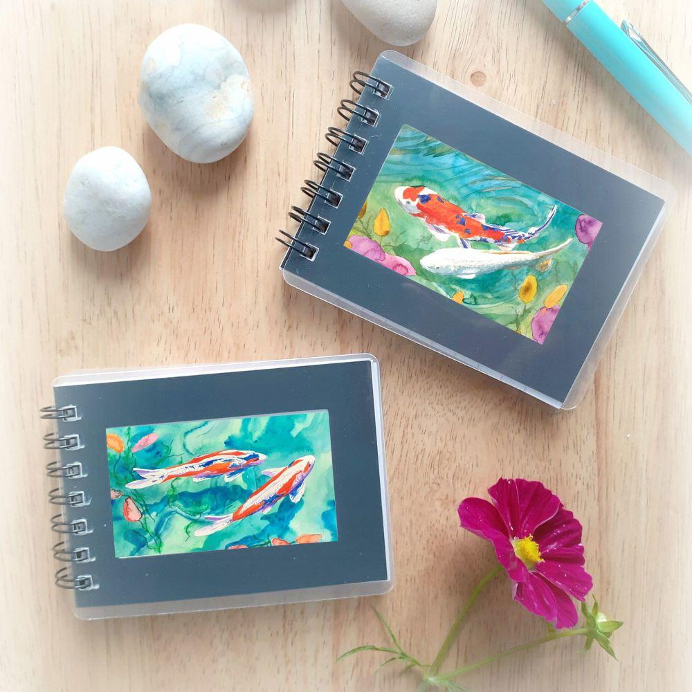 Two Mini Notebooks - Koi Carp