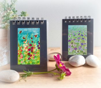 Two Mini Notebooks - Love-in-the-Mist and Hollyhocks