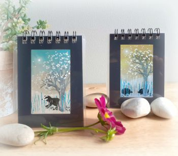 Two Mini Notebooks - Badger and Hedgehogs