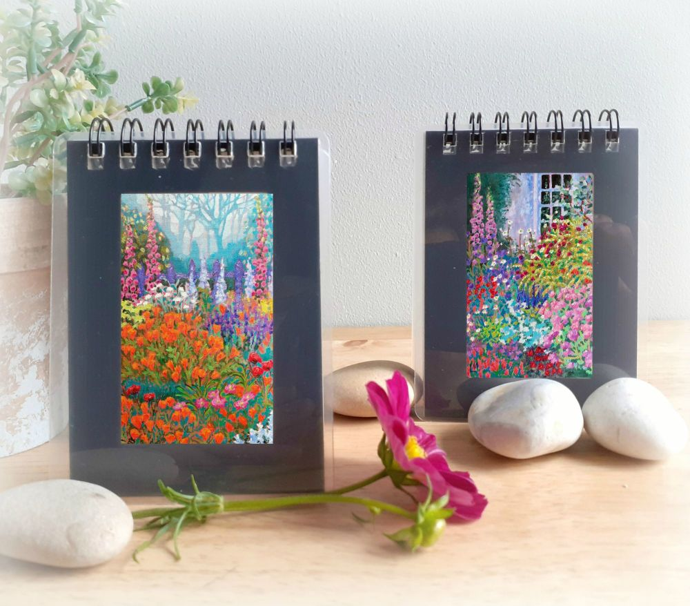 Two Mini Notebooks - Cottage Gardens