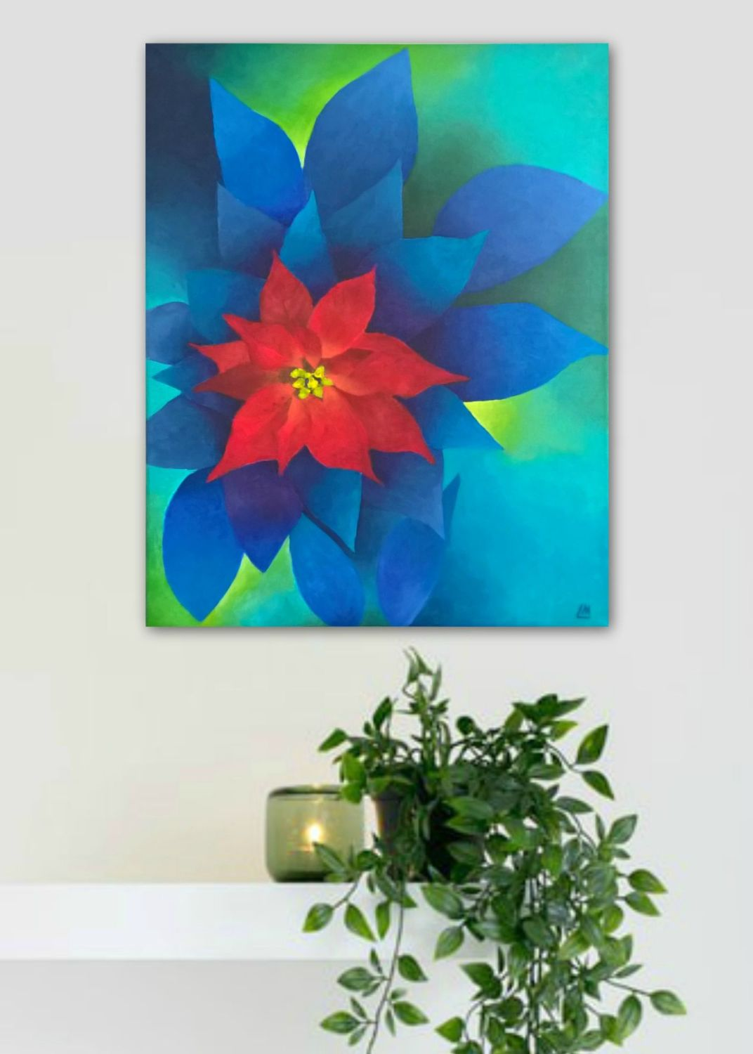 Poinsettia Original Painting