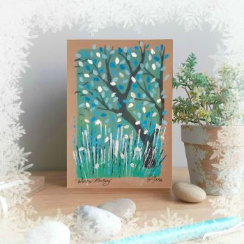 Winter Morning - Hand Painted Card