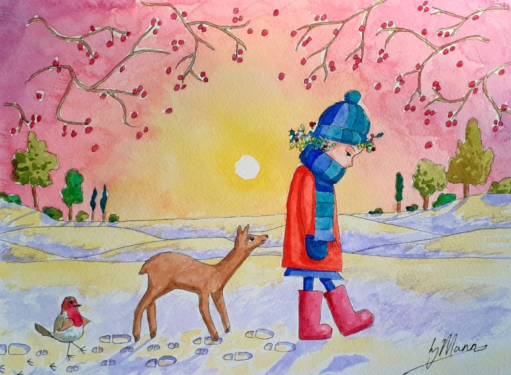 Following Footsteps - Original Watercolour Illustration