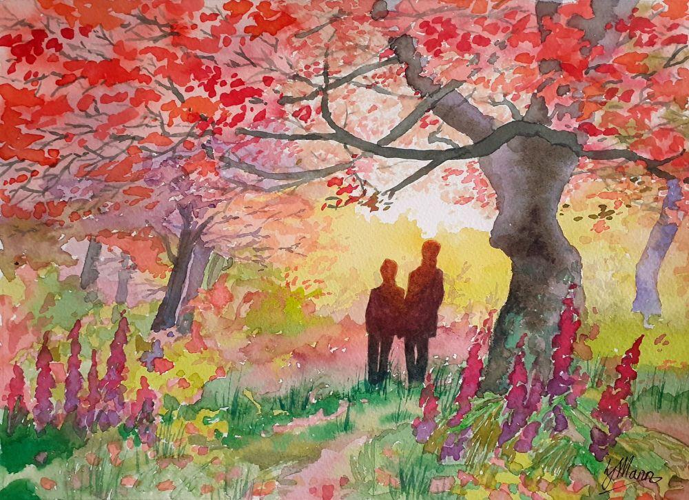 Autumn Walk Print