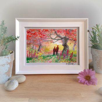 Autumn Walk Framed Gift Print