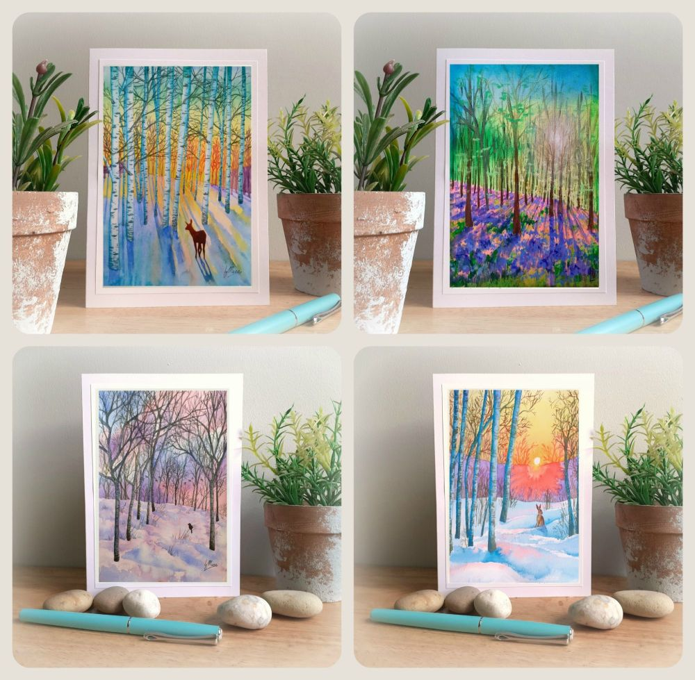 Special Offer - Four Winter and Spring Cards for £8 with free UK postage