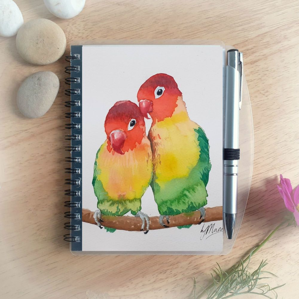 Love Birds Notebook and Silver Pen
