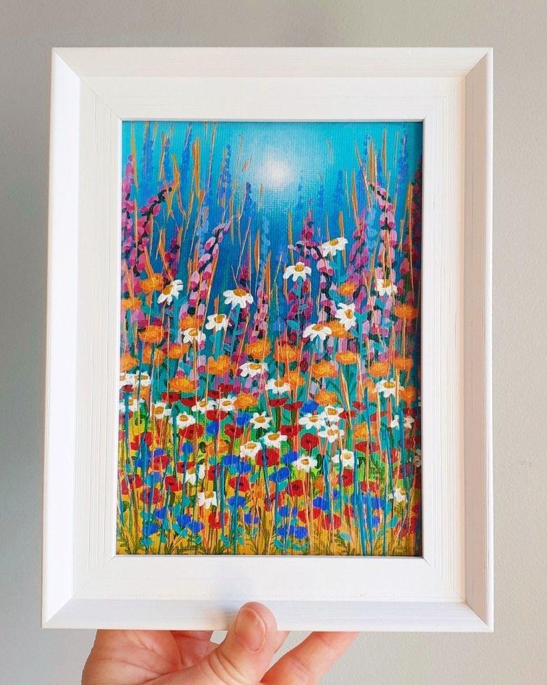 Framed Garden with Marigolds