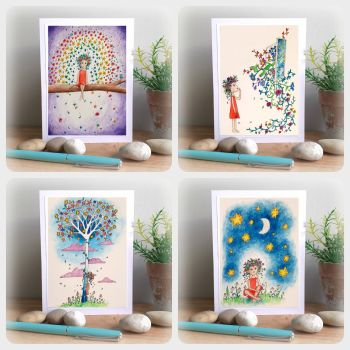 Special Offer - Four Illustrated Cards for £8 with free UK postage
