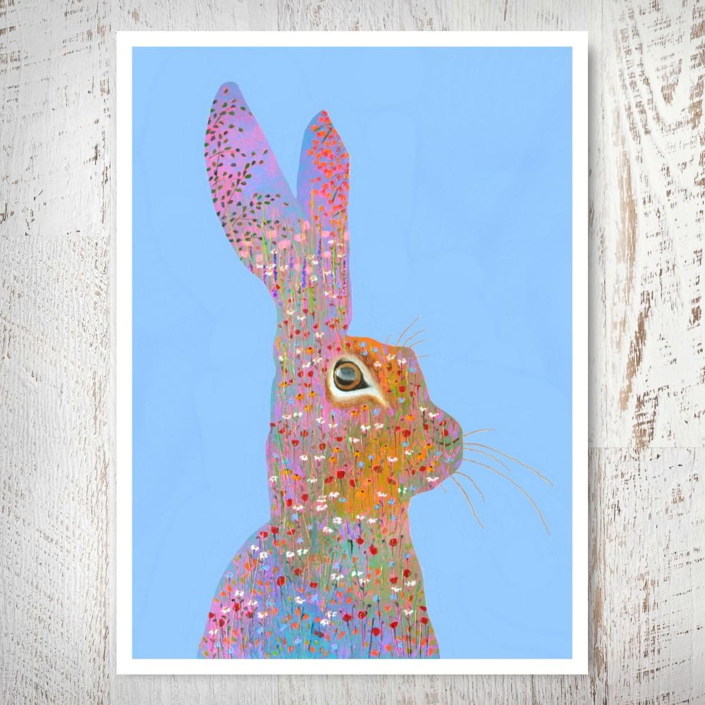 Flower Hare Print