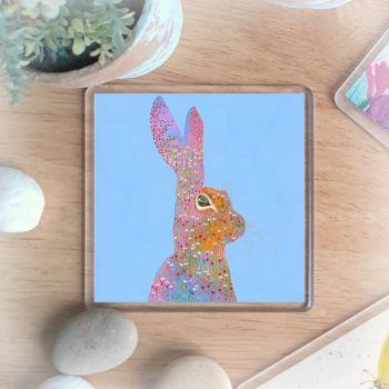 Happy Hare Coaster