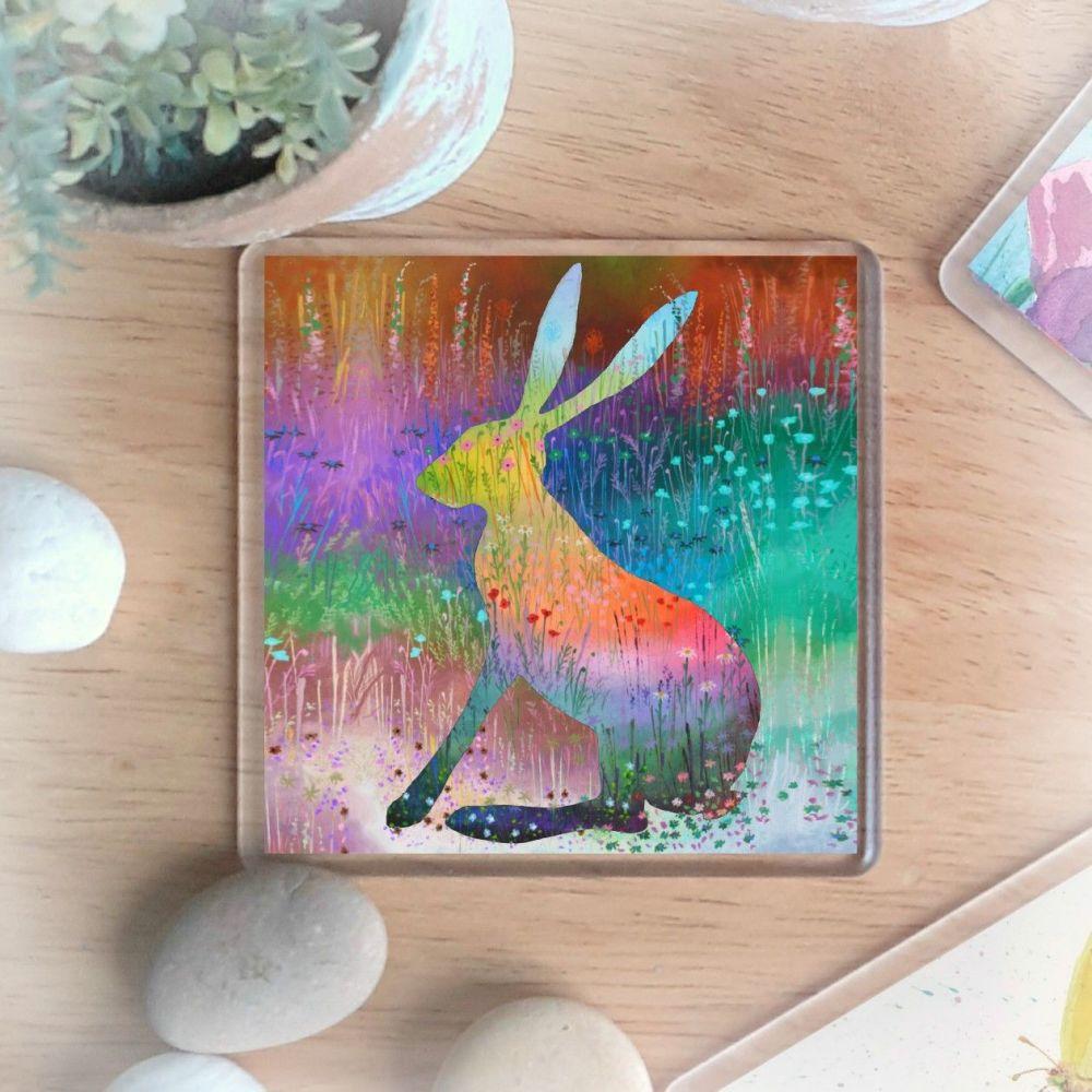 Flower Hare Coaster