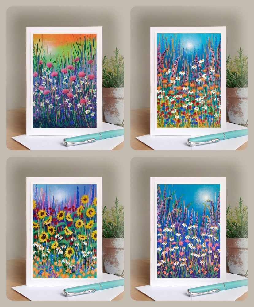 Special Offer - Four Bright Garden Cards for £8