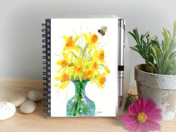Daffodils Notebook and Silver Pen