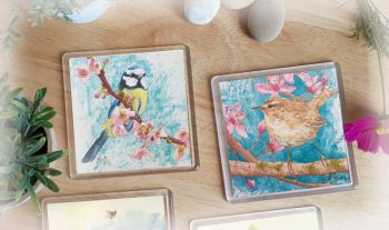 Birds in Spring Coaster Set
