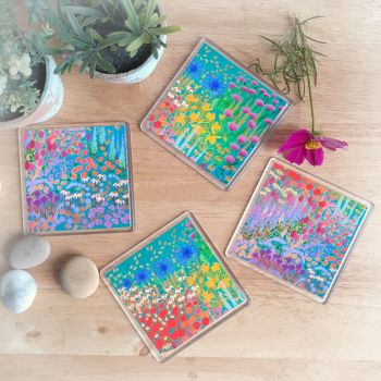 Bold Garden Coaster Set