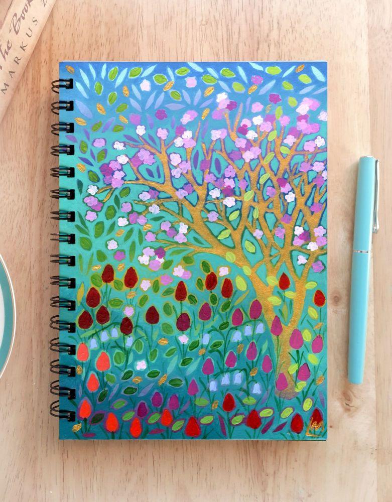 Floral Hand Painted Unique Notebook