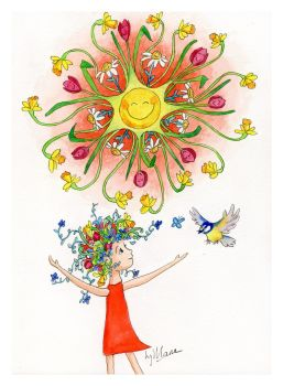 Hello Sunshine Signed Giclee Print - to fit A4 frame