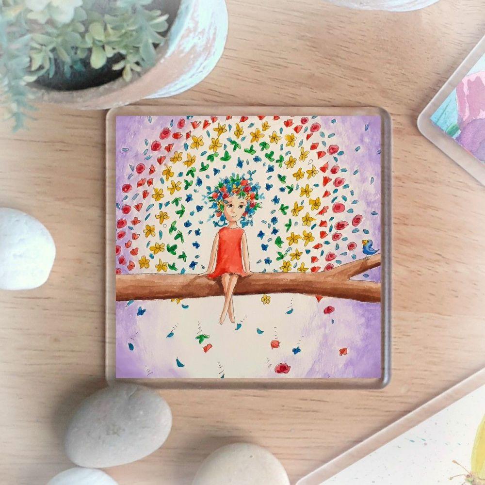 Flower Rainbow Coaster