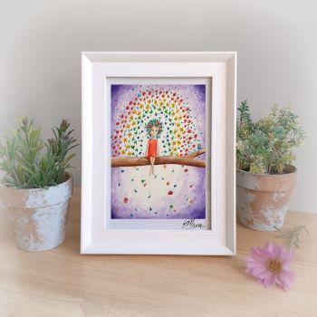 Flower Rainbow Framed Gift Print