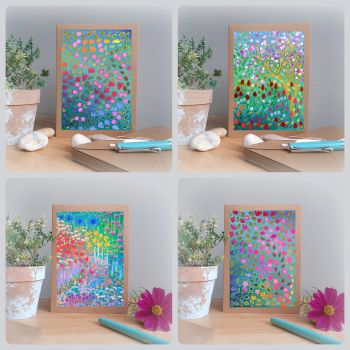 Special Offer - Four Abstract Floral Cards for £8