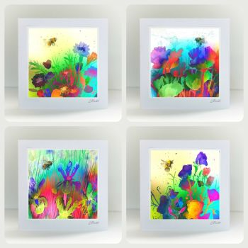 Special Offer - Four Bright Bees Cards for £8