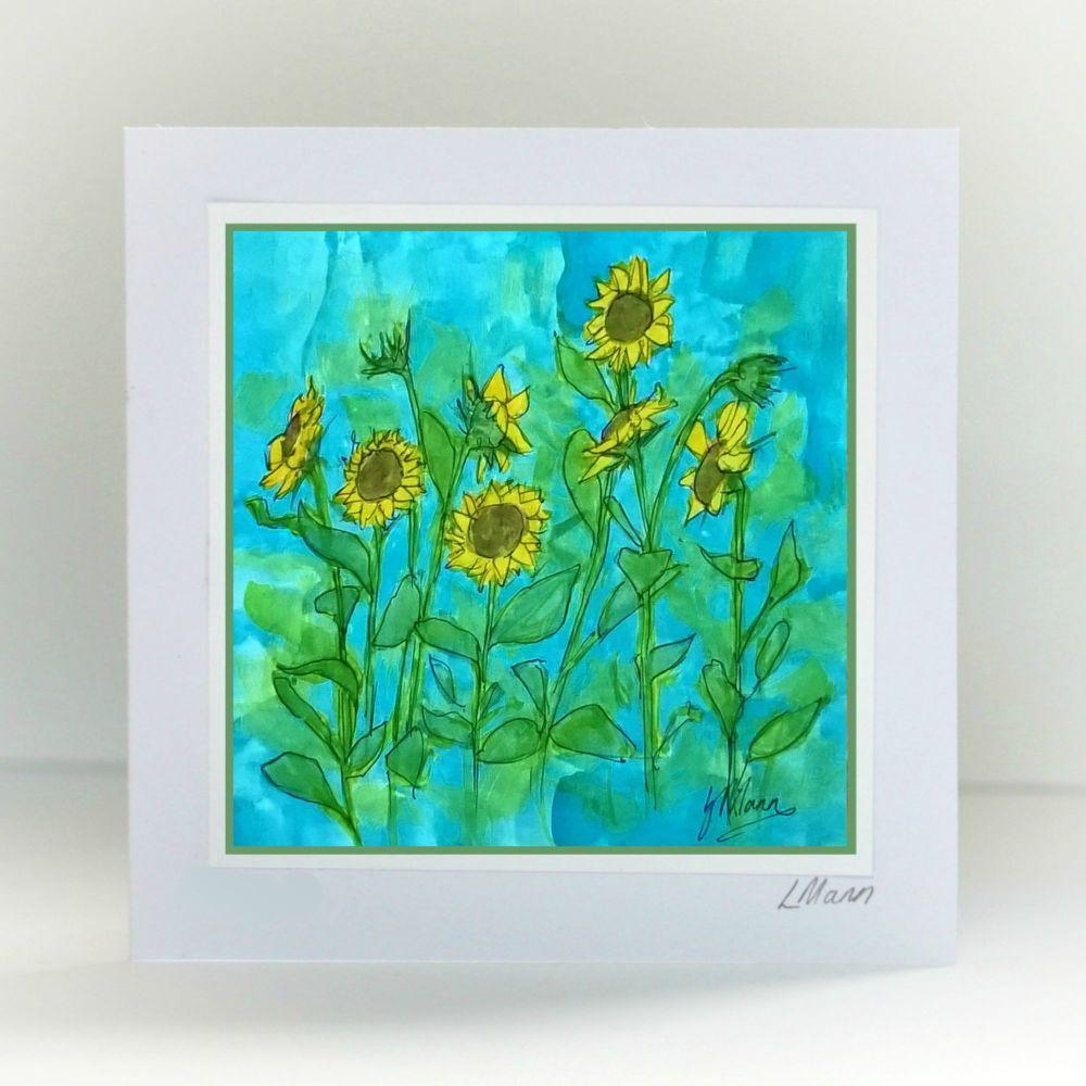 Sunflowers Card