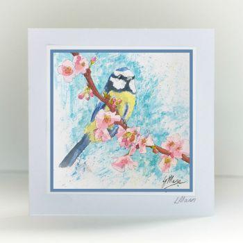 Blue Tit Greetings Card