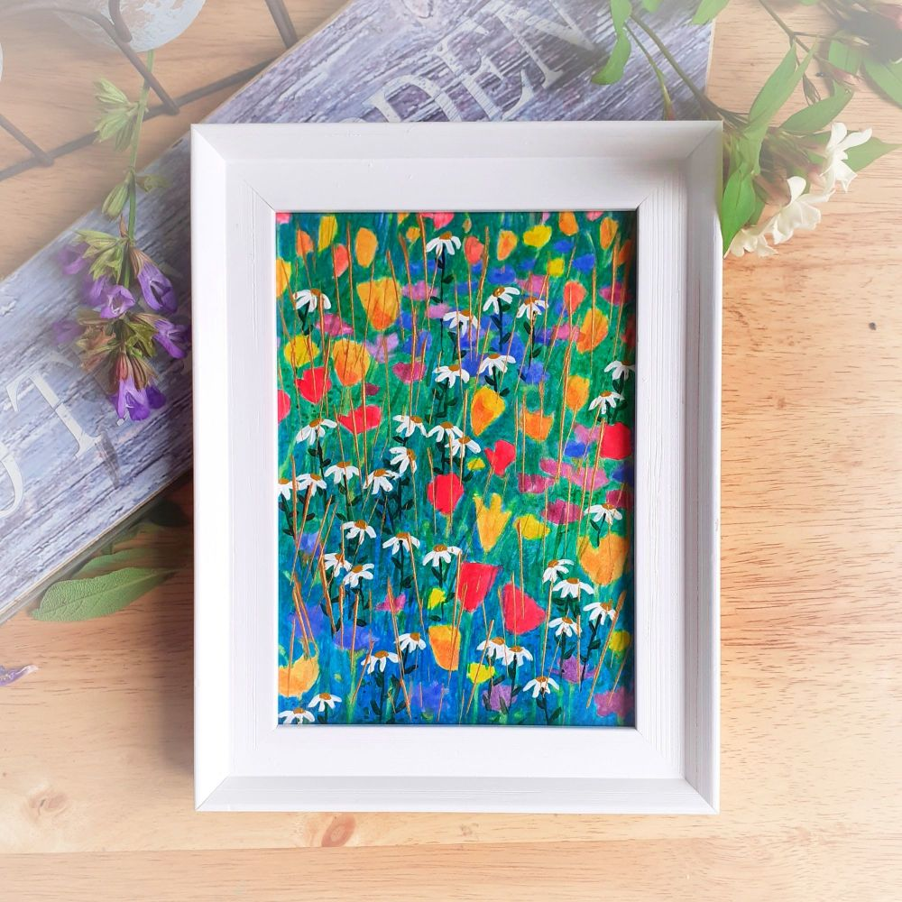 Framed Garden with Poppies
