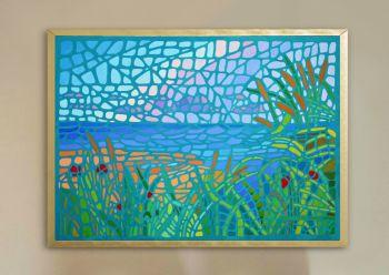 Mosaic Style Painting of Winterton Beach, Norfolk