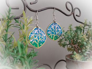 Hand Painted Blossom Earrings