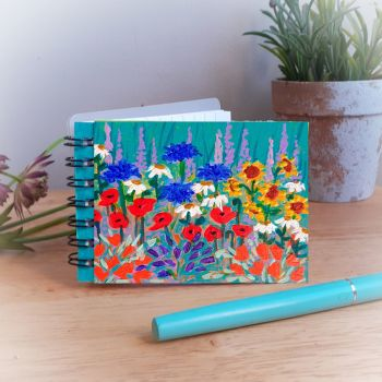 Hand Painted Pocket Notebook with Poppies