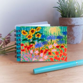 Hand Painted Pocket Notebook with sunset