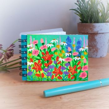 Hand Painted Pocket Notebook with Orange Lilies