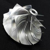 TD05H Turbo Billet turbocharger Compressor impeller Wheel 52.56/68.01 Performance Design, Reverse Rotation