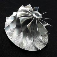 TD05H Turbo Billet turbocharger Compressor impeller Wheel 52.56/68.01 Performance Design, Low Blade, Reverse Rotation