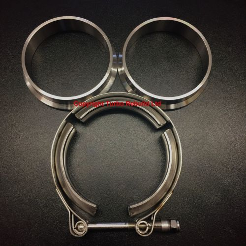 Heavy Duty Turbocharger V Band Clamp & Flange Set (Stainless Steel)