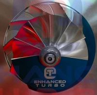 Billet Compressor Wheel 40.94 / 53.72MM (replaces/fits HT12B UKN)  Blade (Part No 2B01)