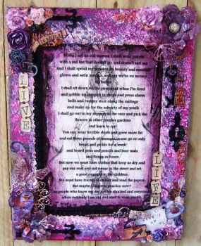 Made To Order Commission Piece Purple Canvas Wall Art
