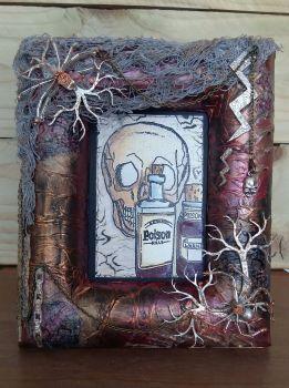 Gothic Inspired Spider Photo Frame
