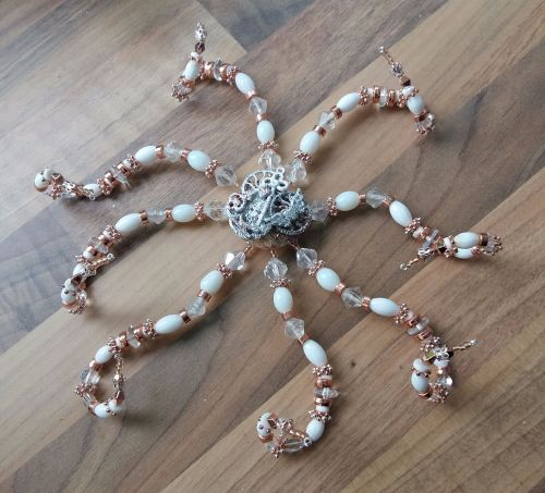 Steampunk Inspired Beaded Octopus