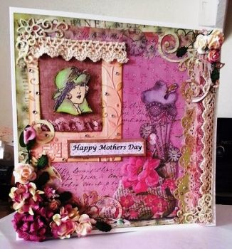 Vintage Inspired Handmade Card