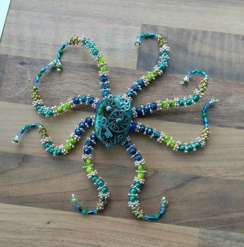 Customer Commission Steampunk Inspired Beaded Octopus