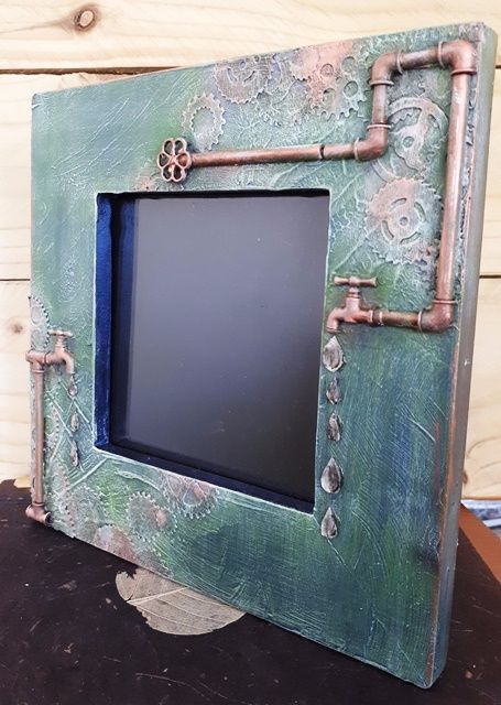 Decorated Steampunk Inspired Picture Photograph Frame