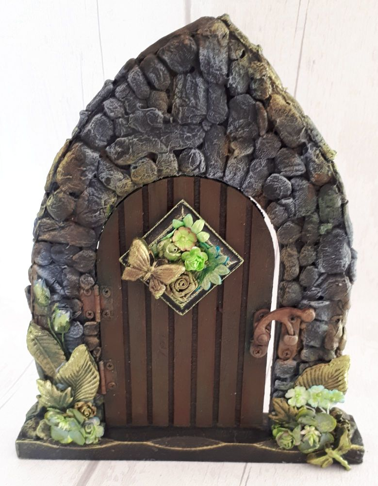 Mixed Media Fairy Door Faery Fantasy Handmade