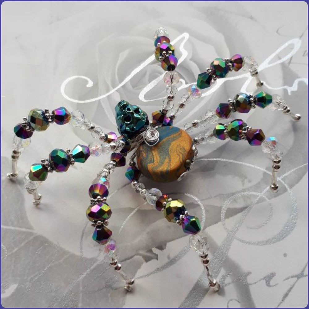 'Artisan' Beaded Spiders