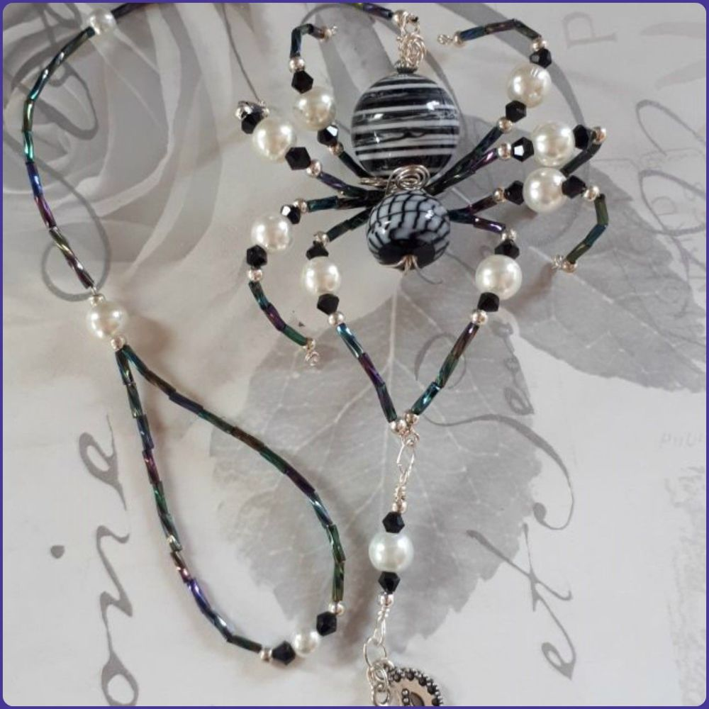 Beaded Spider Handmade Decoration Hanging Design